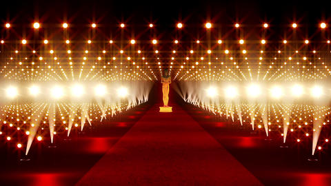 On The Red Carpet 02 Award Stock Video Footage