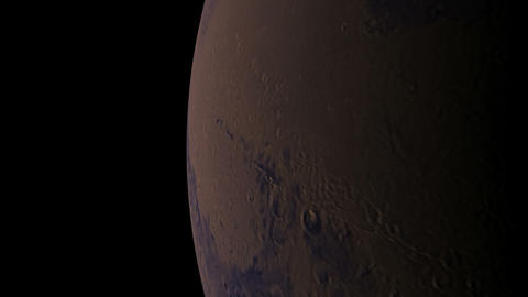 mars orbit Stock Video Footage