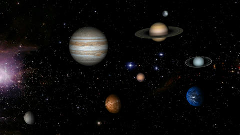 solar system 01 Stock Video Footage