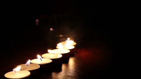 Candles line Stock Video Footage