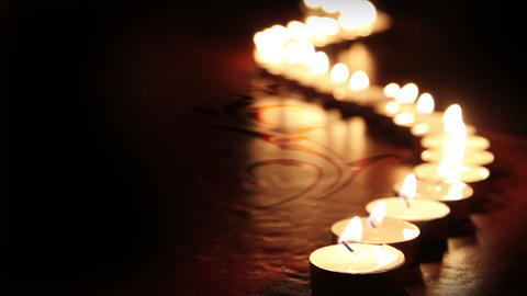 Candle pattern Stock Video Footage