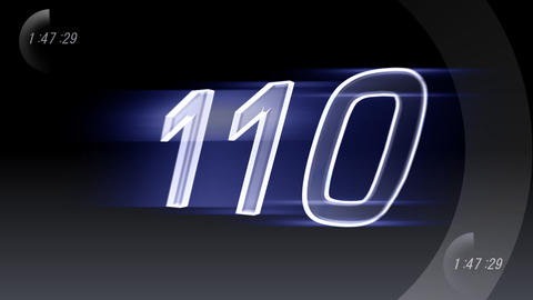CountDown 120 B1b2 HD Stock Video Footage