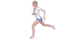 走る女性 Animation