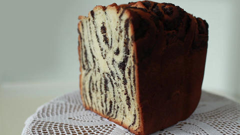 Cake with poppy seeds Footage