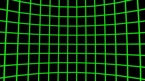 Green retro rotating wireframe. (loop ready file) Animation