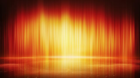 orange light lines and reflection loop background 4k (4096x2304) Animation