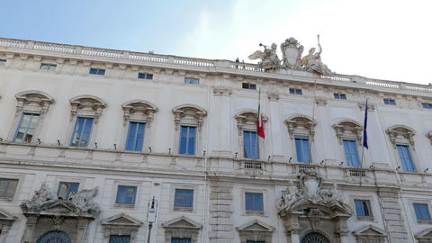 Consult Palace. Rome, Italy. 1280x720 stock footage