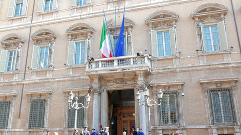 Palazzo Madama. Rome, Italy - February 18, 2015: the residence of the Italian Se Footage