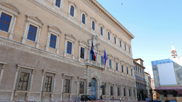 Palazzo Farnese. Rome, Italy - February 18, 2015: More than a hundred years the  Footage