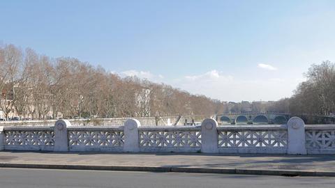 Bridge Mazzini. Rome, Italy - February 18, 2015: bridge was designed by engineer Footage