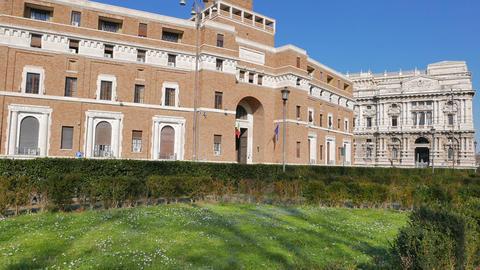 Tribunale di Sorveglianza. (supervisory review court) Rome, Italy. 1280x720 Footage
