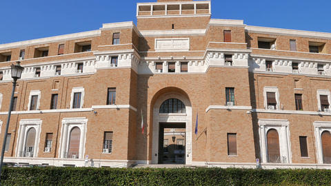 Tribunale Di Sorveglianza. (supervisory Review Court) Rome, Italy stock footage