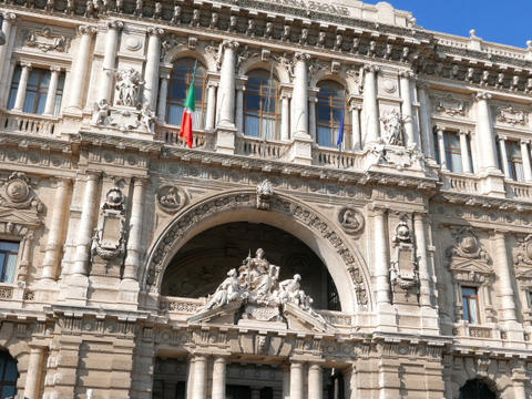Supreme Court of Cassation, Palace of Justice. Rome, Italy. 640x480 Footage