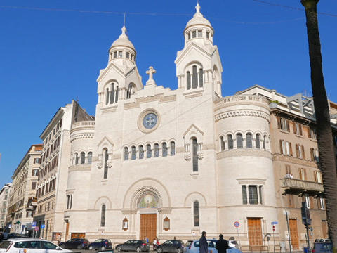 Valdese Evangelical church at Piazza Cavour. Rome, ItalyValdese Evangelical chur Footage
