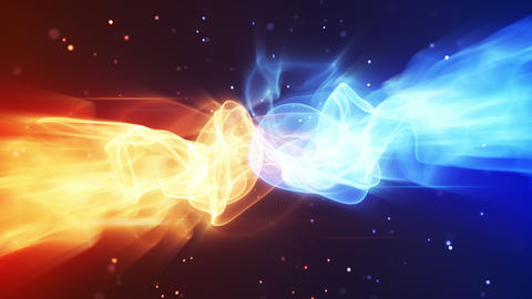 fire and ice seamless loop background 4k (4096x2304) Animation