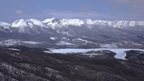 Mountain View Alpine Lake Establishing Shot Footage