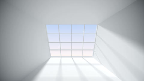 Abstract White room with window Animation