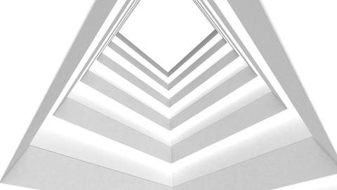 Abstract white building on a white background Animation