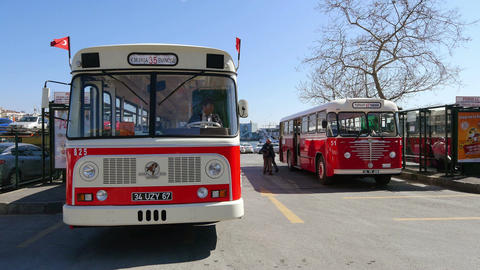 Levent labeled nostalgic buses were manufactured specially for Turkey Footage