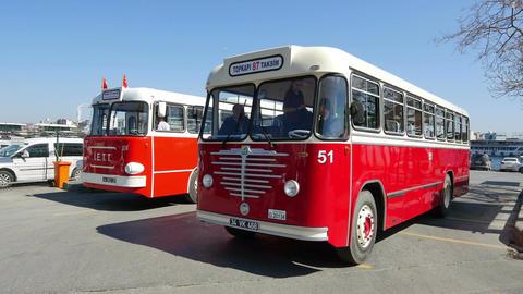 Nostalgic IETT buses of Istanbul Footage