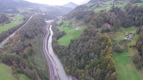 Salzburg aerial view Live Action