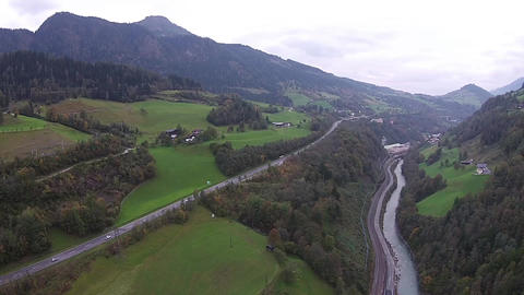 Aerial View Of The Mountains Landscape stock footage