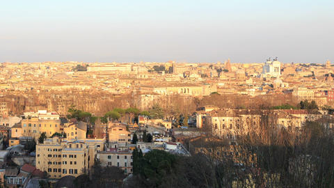 Center of Rome at sunset. Rome, Italy. 1280x720 Live Action