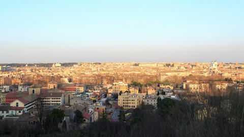 Panorama of the city at sunset. Rome, Italy Footage
