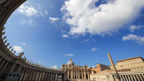 Piazza San Pietro. Vatican, Rome, Italy. TimeLapse. 1280x720 Footage