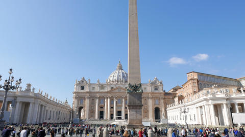 St. Peter's Basilica. VATICAN - February 19, 2015: The square is prepared for th Footage