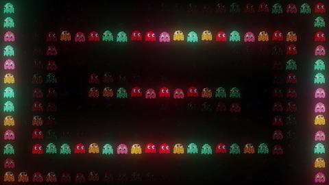 Arcade LED Restless Ghosts Animation