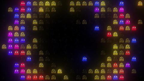 Arcade LED Exploding Ghosts Animation