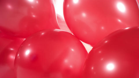 Birthday party red gold balloons 4k background Footage