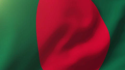 Bangladesh flag waving in the wind. Looping sun rises style. Animation loop Animation