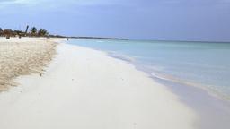 Idyllic Blue Water Tropical Beach In Cuba stock footage