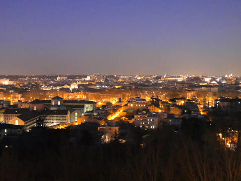 Rome by night. Panorama. Italy. 640x480 Live Action