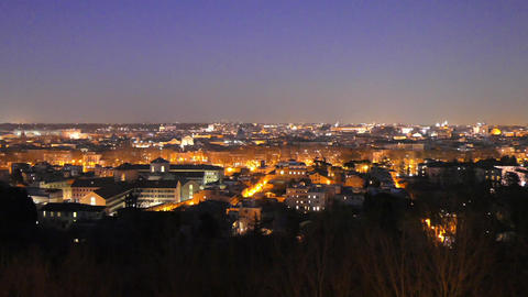 Rome by night. Panorama. Italy. 1280x720 Live Action