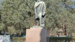 Alfredo Oriani Monument, Rome, Italy. 4K Live Action