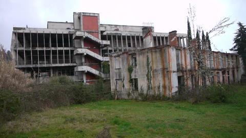 Abandoned Building in Garden 2 Footage