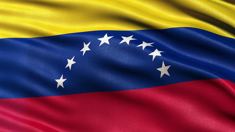 Venezuela flag seamless loop Ultra-HD Animation