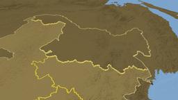Heilongjiang province extruded. Bumps Animation