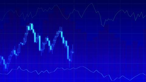 Economy Graph Loop 2 2 stock footage
