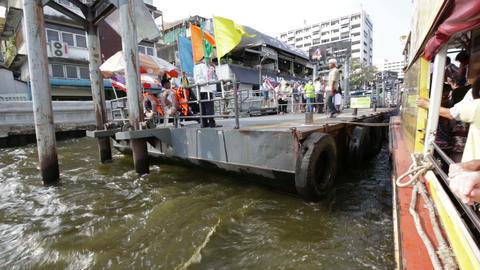 Bangkok public transportation boat Footage