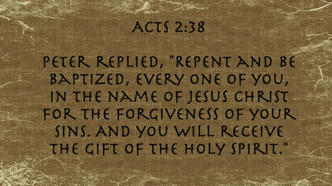 Bible Verse Acts 2:38 Footage