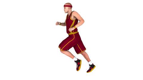 走るバスケット選手 CG動画