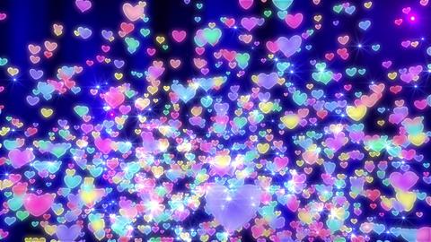 Heart neon r fountain A 4 K Animation