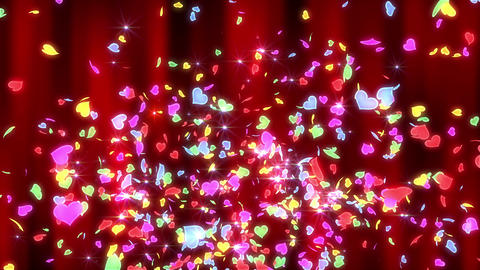 Heart neon r fountain B 4 K CG動画