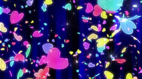 Heart neon r tornado Bw 4 K Animation