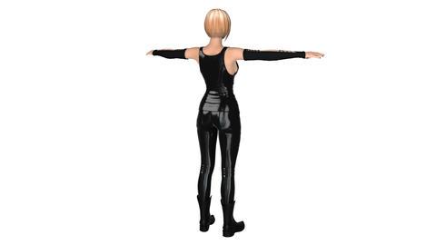 女性回転, CG動画素材