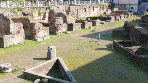 The Ruins. Ludus Magnus. Rome, Italy Footage
